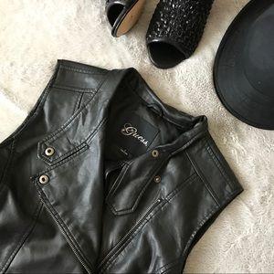 Guess Black Faux Leather Vest